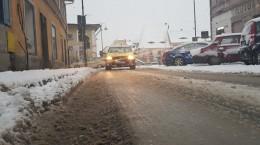 str faurului zapada iarna gheata taxi