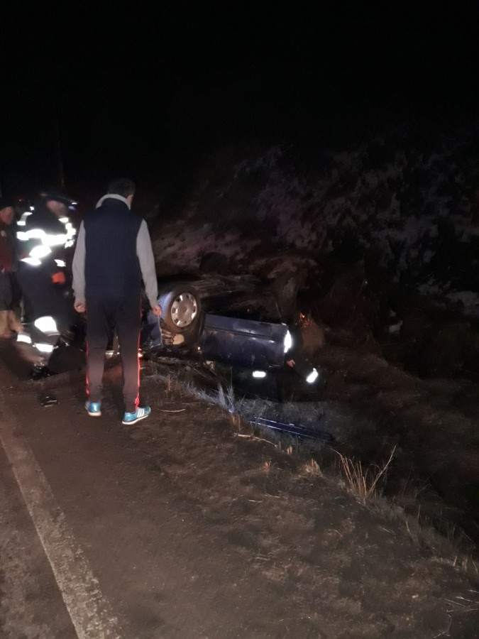 masina rasturnata accident DN 14 (1)