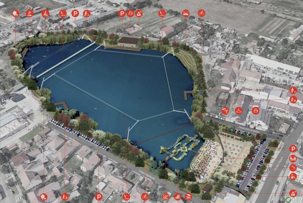 Proiectul de amenajare a Lacului lui Binder are termen de finalizare luna decembrie a acestui an