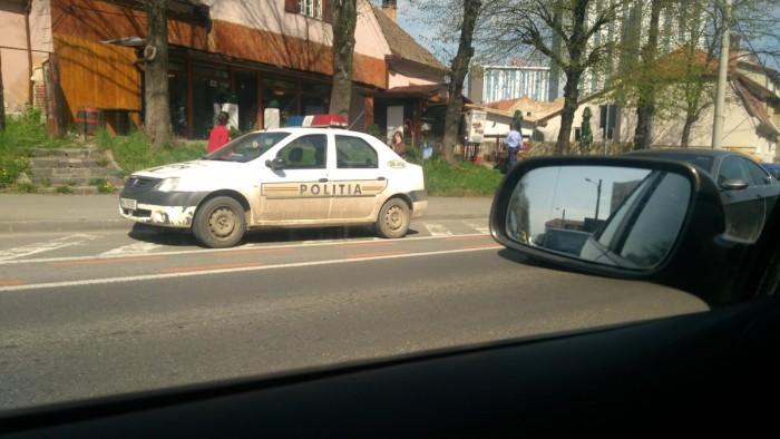 masina politie parcata neregulamentar