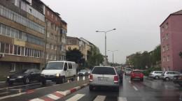 strada rusciorului terezian trafic sibiu masini aglomeratie circulatie