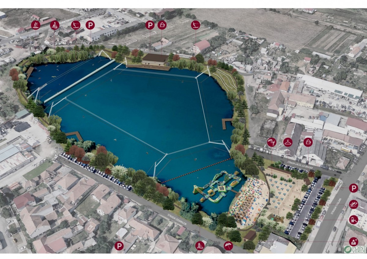 Amenajarea Lacului lui Binder are zece luni alocate pentru execuție