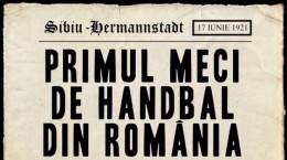 afis primul meci de handbal din romania