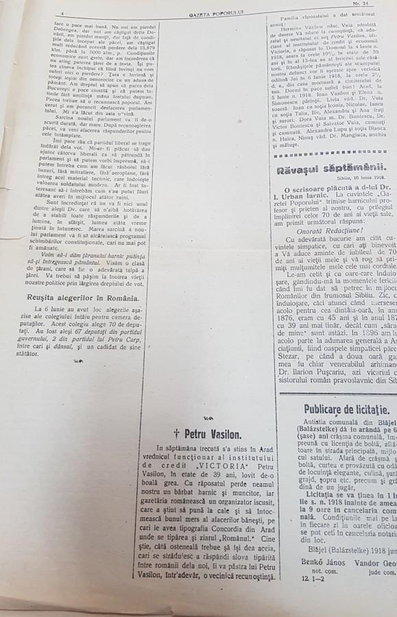pagina gazeta poporului cenzurata