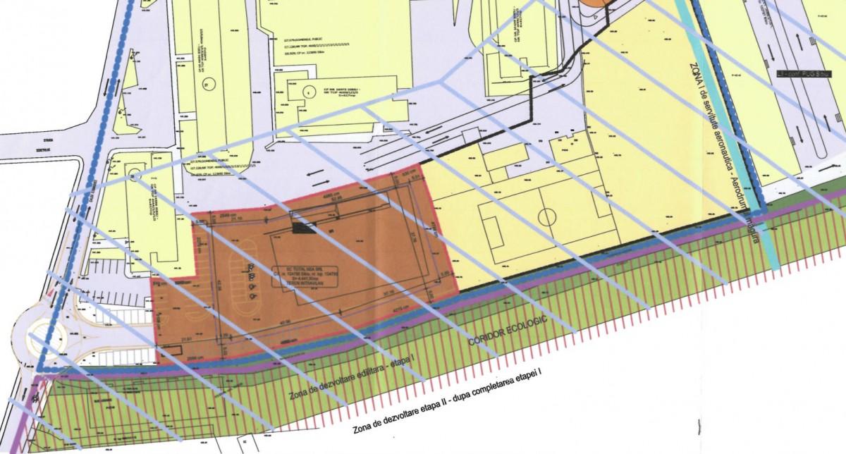Legătura între Calea Cisnădiei și parcarea viitorului hipermarket se va face printr-un sens giratoriu