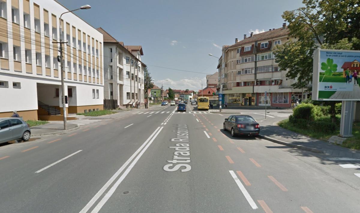 Trecerea de pietoni de pe str. Rusciorului. Sursa foto: Google Street View