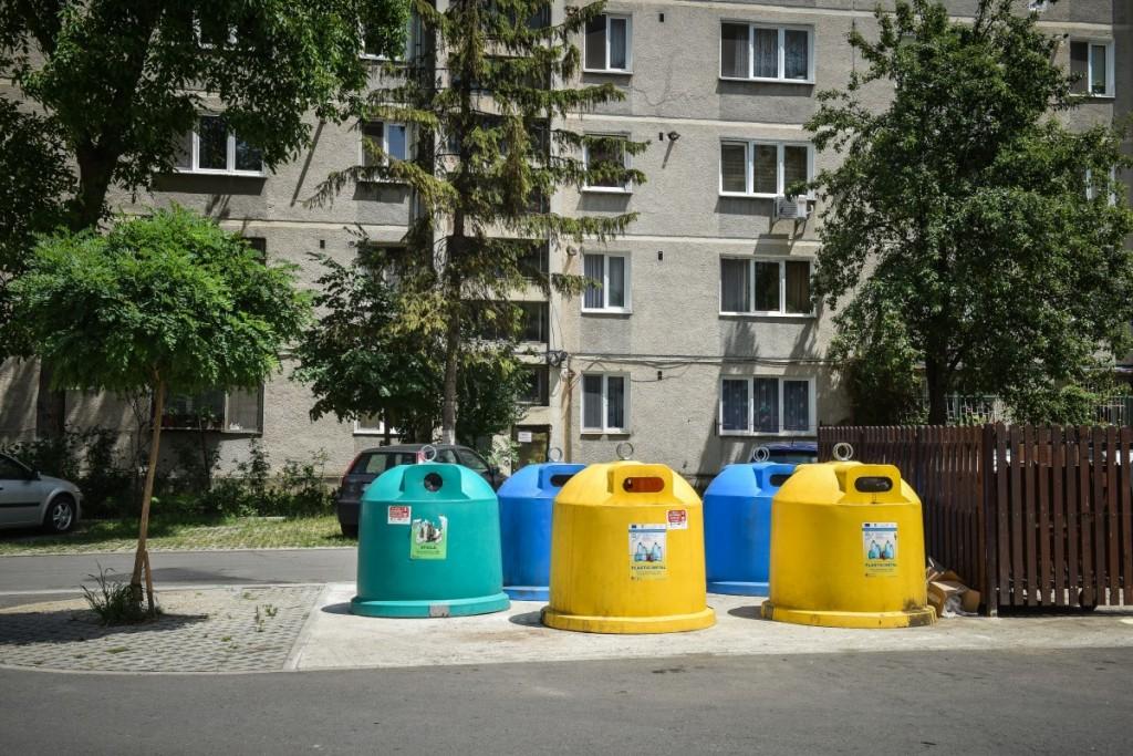 ține Sibiul Curat Colectați Deșeurile De Plastic în Pubela