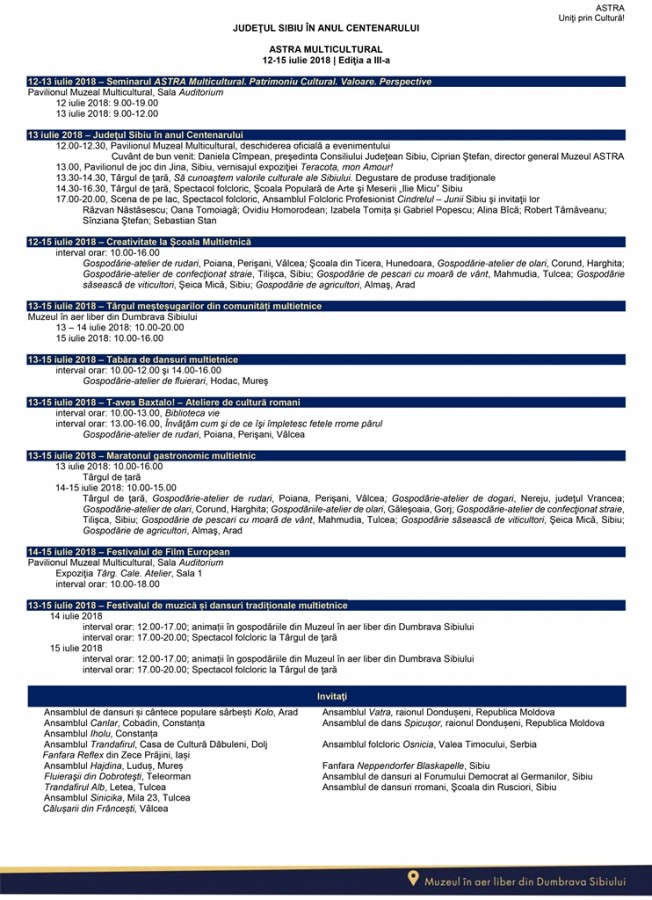 ASTRA MULTICULTURAL 2018 - program general