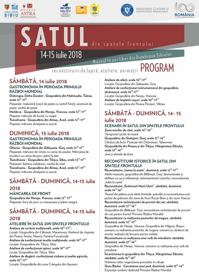 Program_Satul din spatele frontului 14-15 iulie 2018