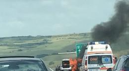 incendiu masina autostrada