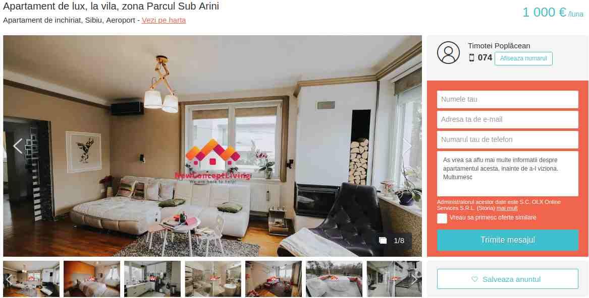 """Din anunț: Va propunem un apartament la casa de Inchiriere in Sibiu, (Casa duplex), in zona Parcul Sub Arini. Apartamentul de inchirial in Sibiu are 3 camere, suprafata utila 107 mp si suprafata teren liber de 80 mp, cu deschidere la doua strazii de 20 ml respectiv 12ml. Separat de acest spațiu, mai este o terasa de 16mp deschisa""""."""