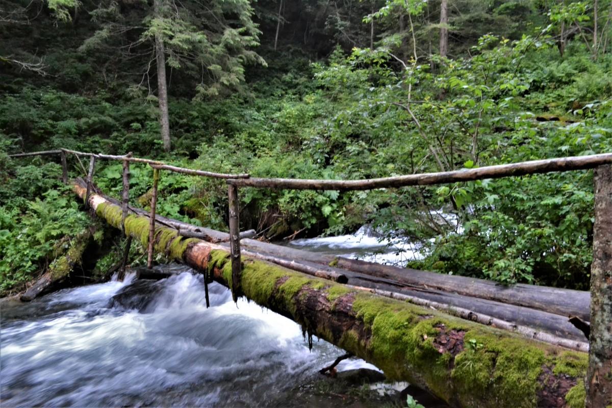 Unul dintre poduri peste care am trecut: e în stare satisfăcătoare, însă nu se știe pentru cât timp