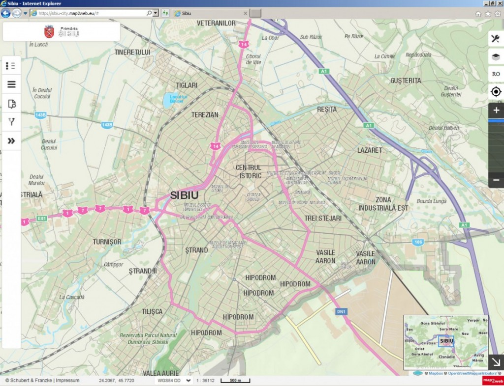 Harta Interactivă A Municipiului De Pe Www Sibiu Ro A Fost