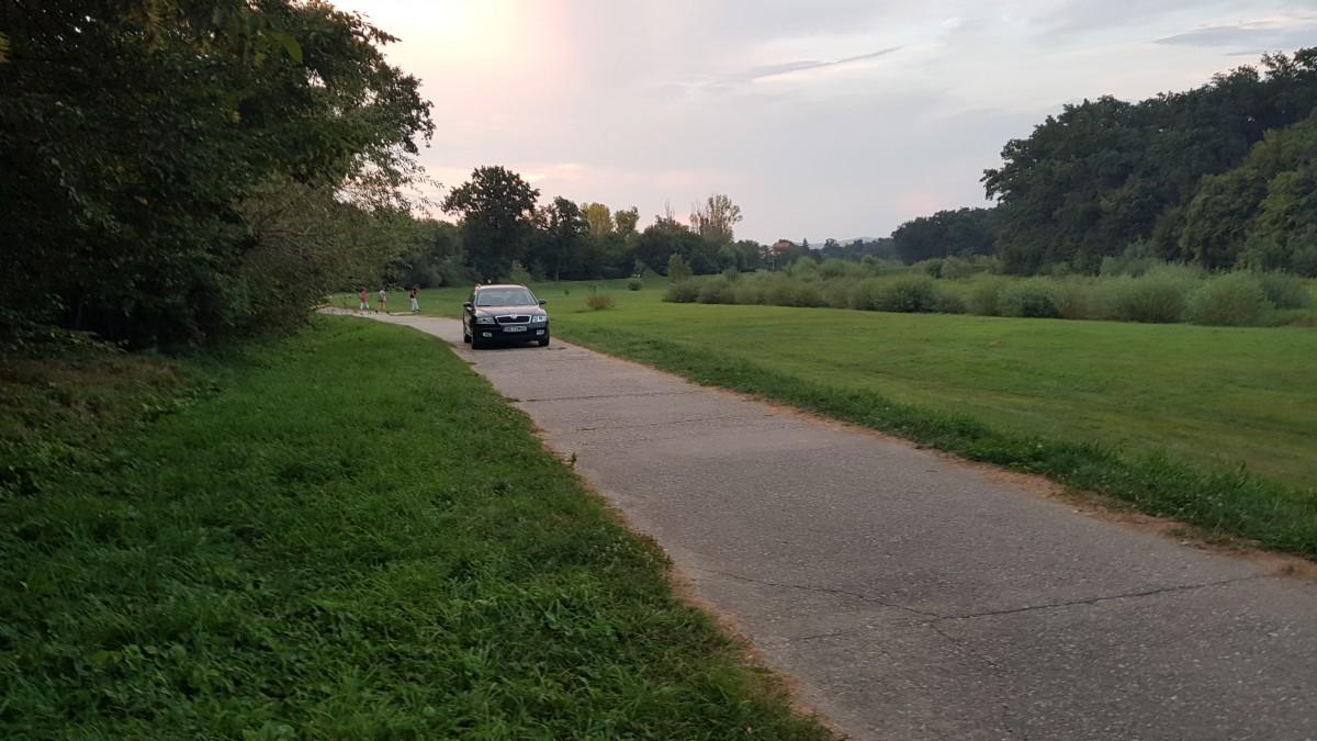 masina parc trotuar 1