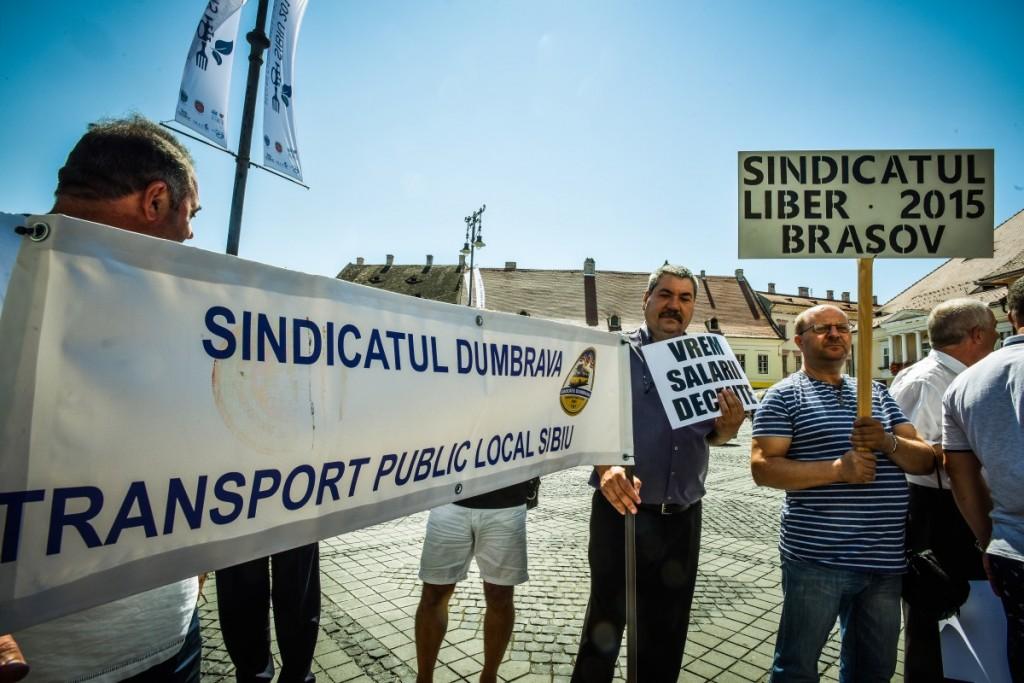 protest soferi autobuze Tursib (10)