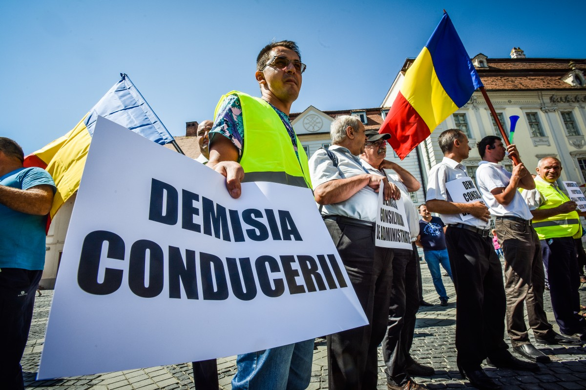 protest soferi autobuze Tursib (7)