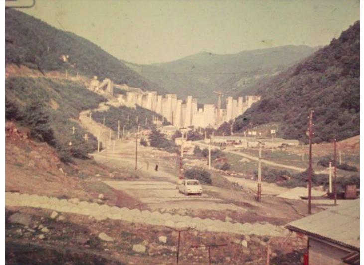 Imagine din timpul construcției. (Foto: Apele Române)