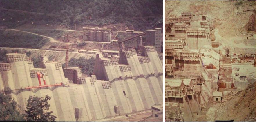 Barajul în timpul construcției (Foto: Apele Române)