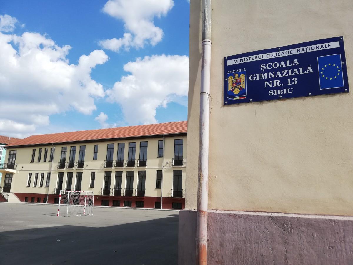 Corpul de clădire nou al Școlii nr. 13, construit cu fonduri europene