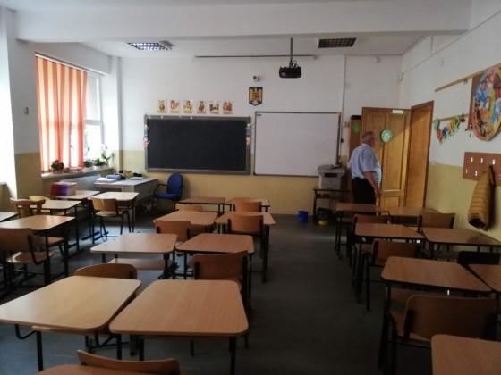 O sală de studii la Școala 18