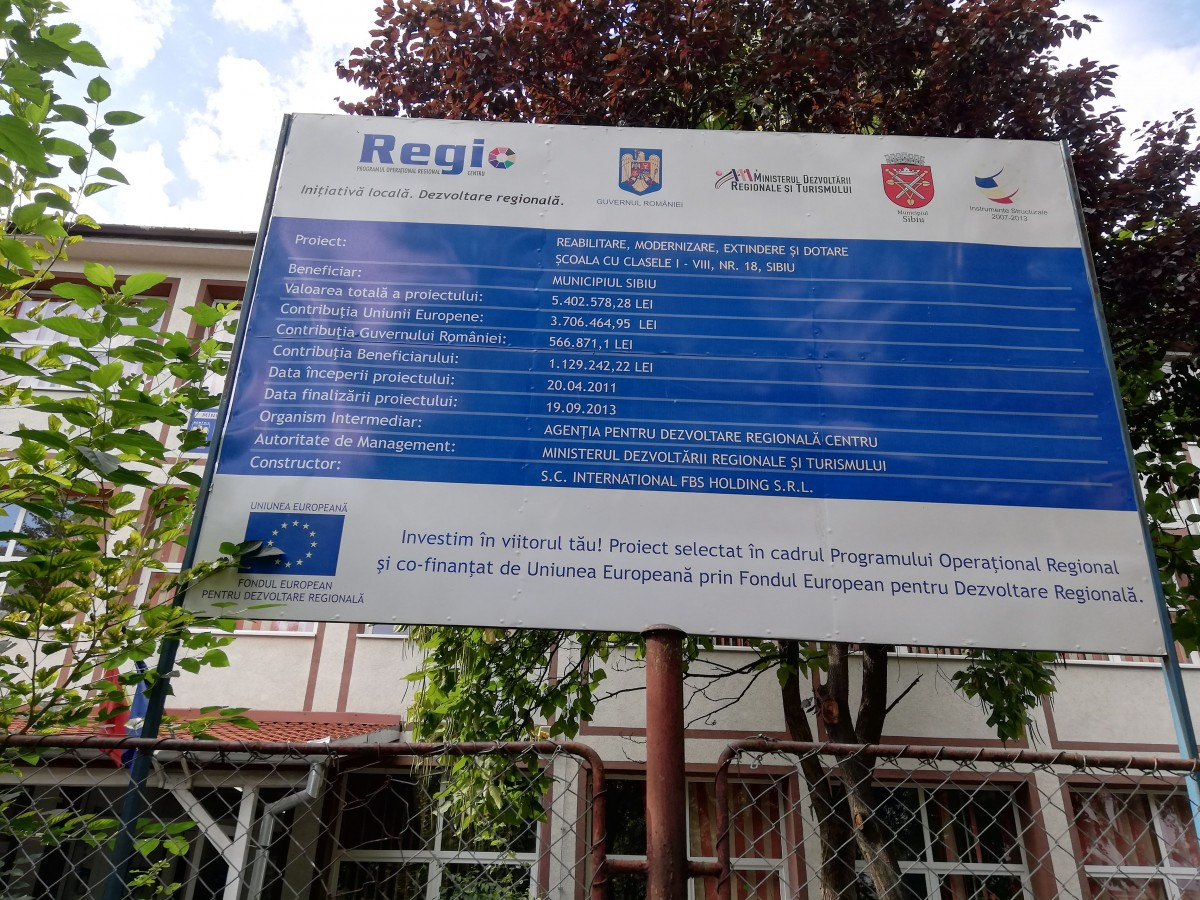 scoala 18 proiect UE