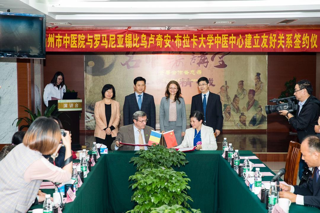 Ceremonia de semnare a memorandului din partea ULBS