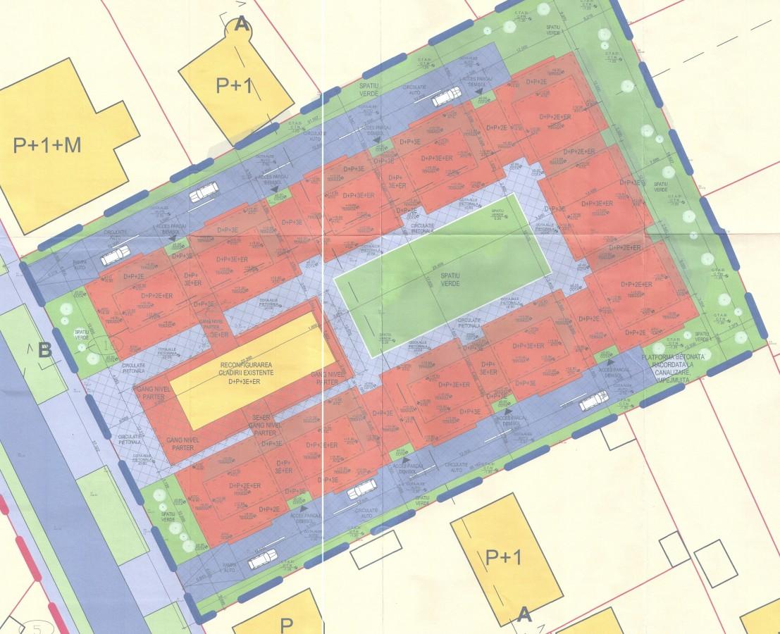 Propunerea de mobilare a terenului de pe str. Bahluiului