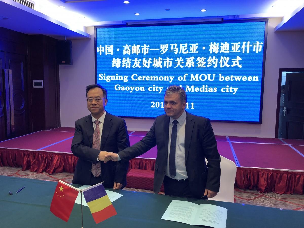 Ceremonia de semnare a memorandumului cu Mediașul