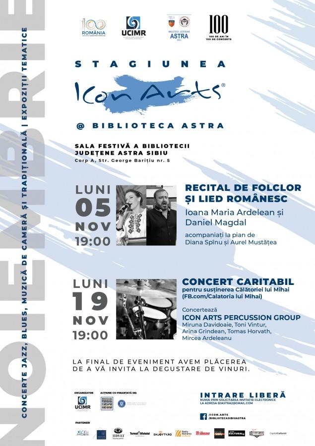 Poster Stagiunea ICon Arts Biblioteca ASTRA_NOV18_web