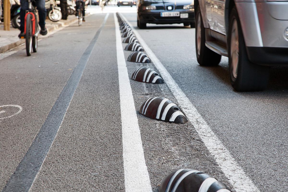 Delimitatoare pentru benzile de bicicliști