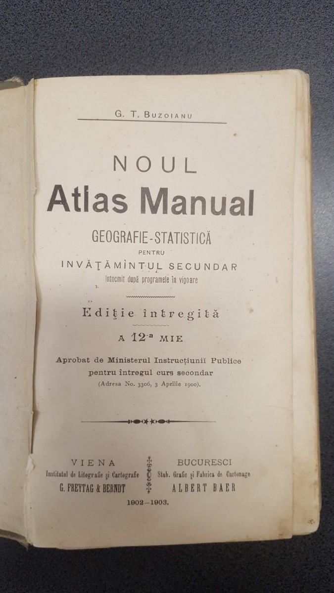 Atlas Manual de Geografie, folosit în școli până la Marea Unire