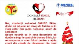Donare sange - imaginea care va fi afisata in autobuze