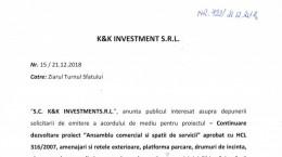 anunt k 7 k investment