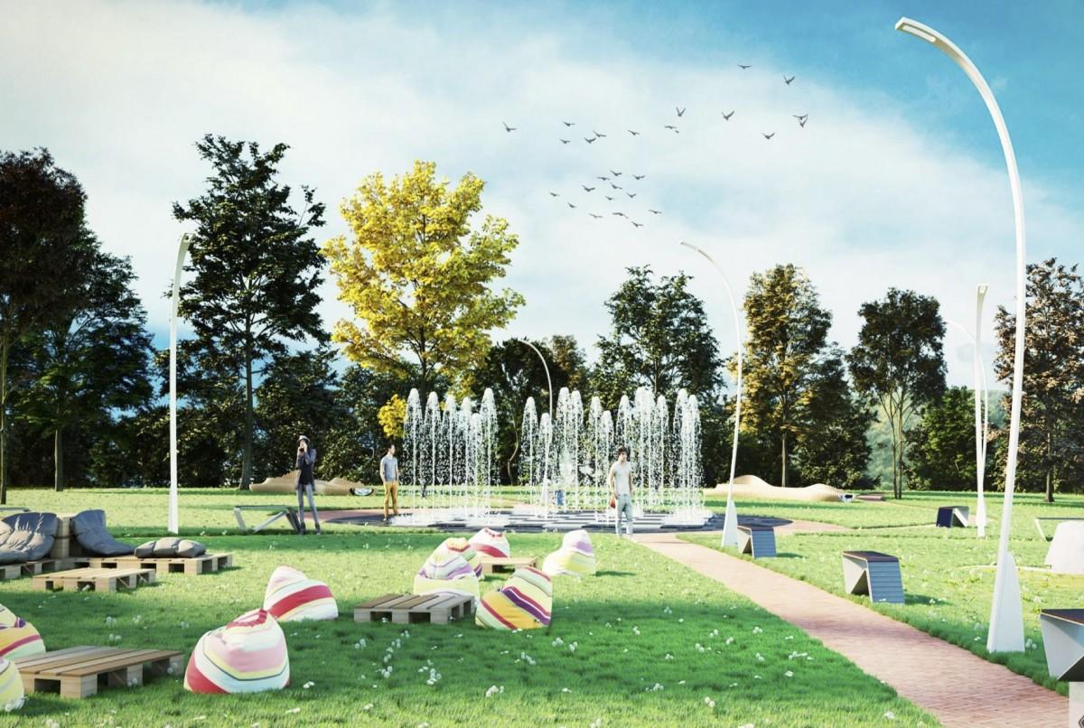 Simulare pentru viitorul parc din cartierul Tilișca