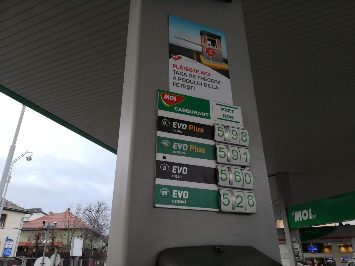 preturi benzinarie Mol
