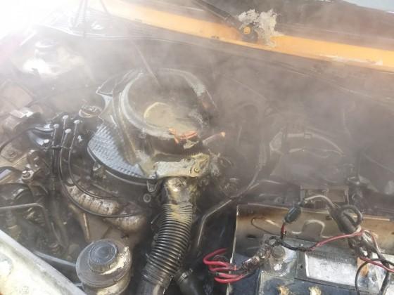 incendiu motor masina