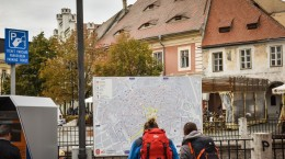 sibiu piata mica turisti harta