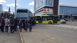 autobuz blocat giratoriu piata unirii 2