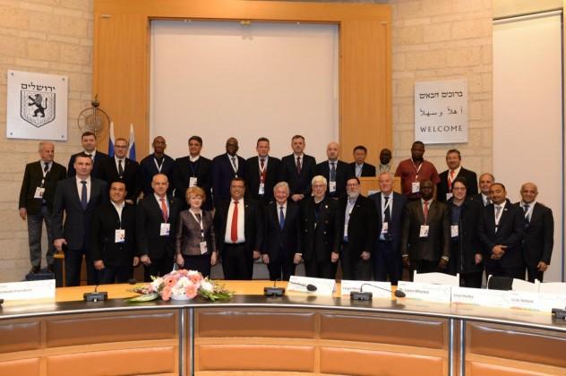 delegația primarilor la Primăria Ierusalim