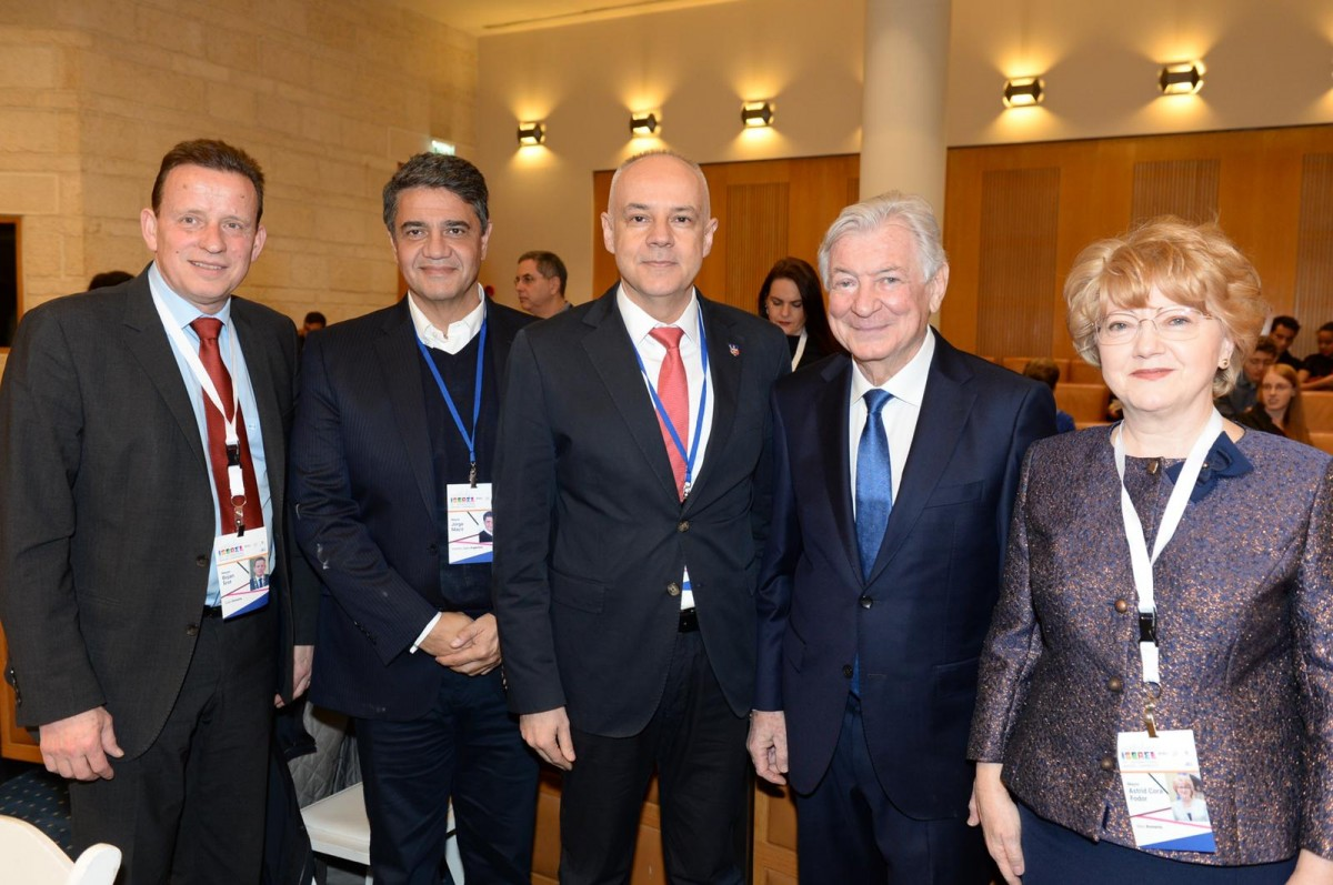 primarii din Slovenia, Argentina, Serbia, președintele AJC Jack Rosen, primarul Astrid Fodor (1)
