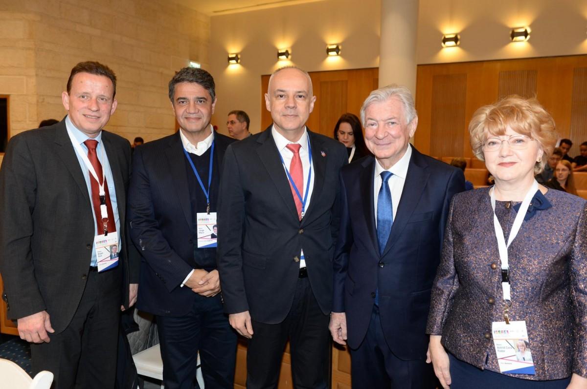 primarii din Slovenia, Argentina, Serbia, președintele AJC Jack Rosen, primarul Astrid Fodor