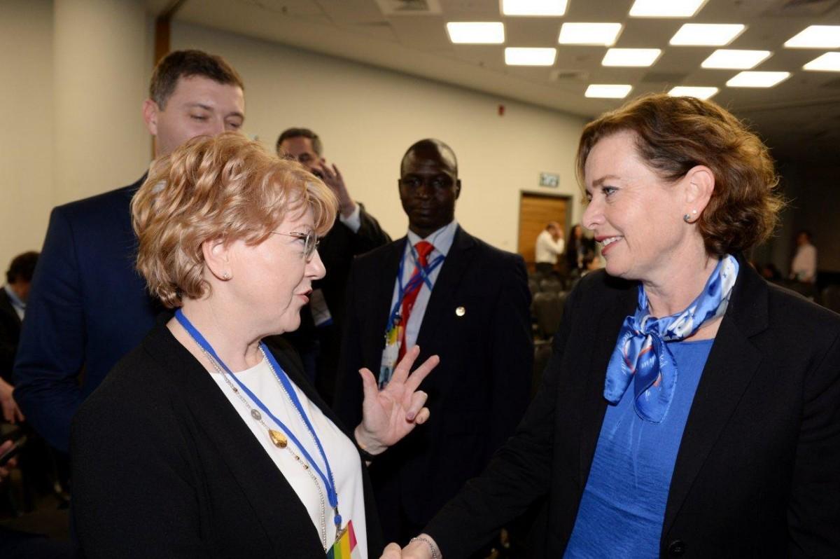 primarul Astrid Fodor împreună cu primarul Haifei, dna Einat Kalisch-Rotem