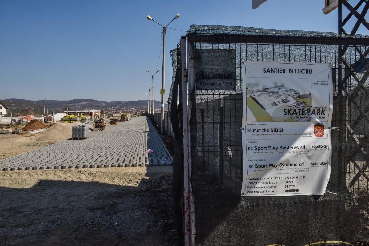 Skatepark-ul ar urma finalizat în cursul lunii aprilie