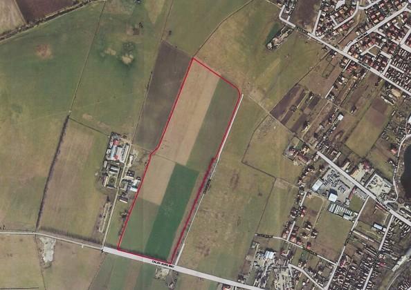 Amplasamentul propus pentru noul spital. Sursa foto: CJ Sibiu