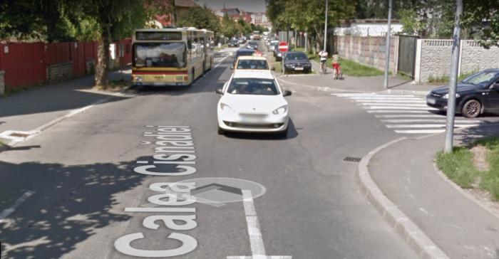 autobuz calea cisnadiei google streetview