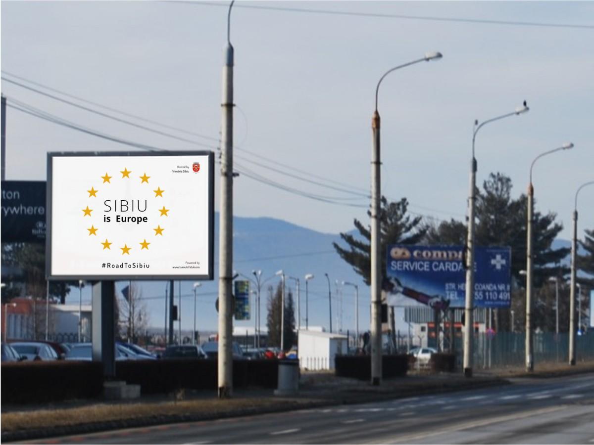 Mesajele selectate vor fi amplasate pe panourile din Sibiu (Notă: simularea de mai sus este doar cu titlul de exemplu, grafica acestor mesaje fiind în curs de elaborare)