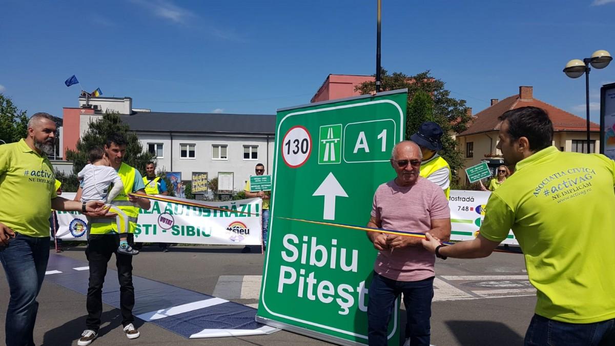 protest autostrada sibiu