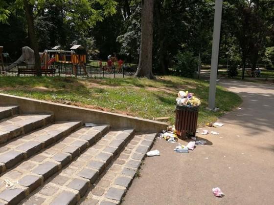 mizerie gunoi parc sub arini