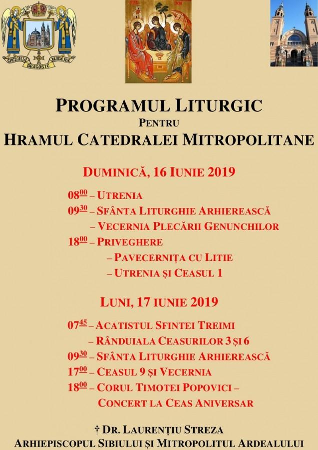 program liturgic hram