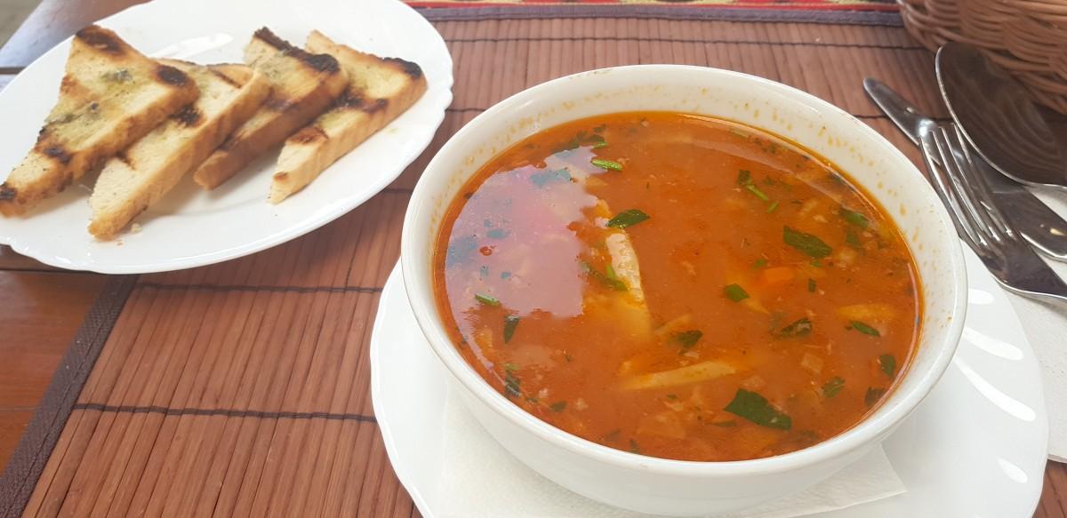 Supă de pește, La Dobrun